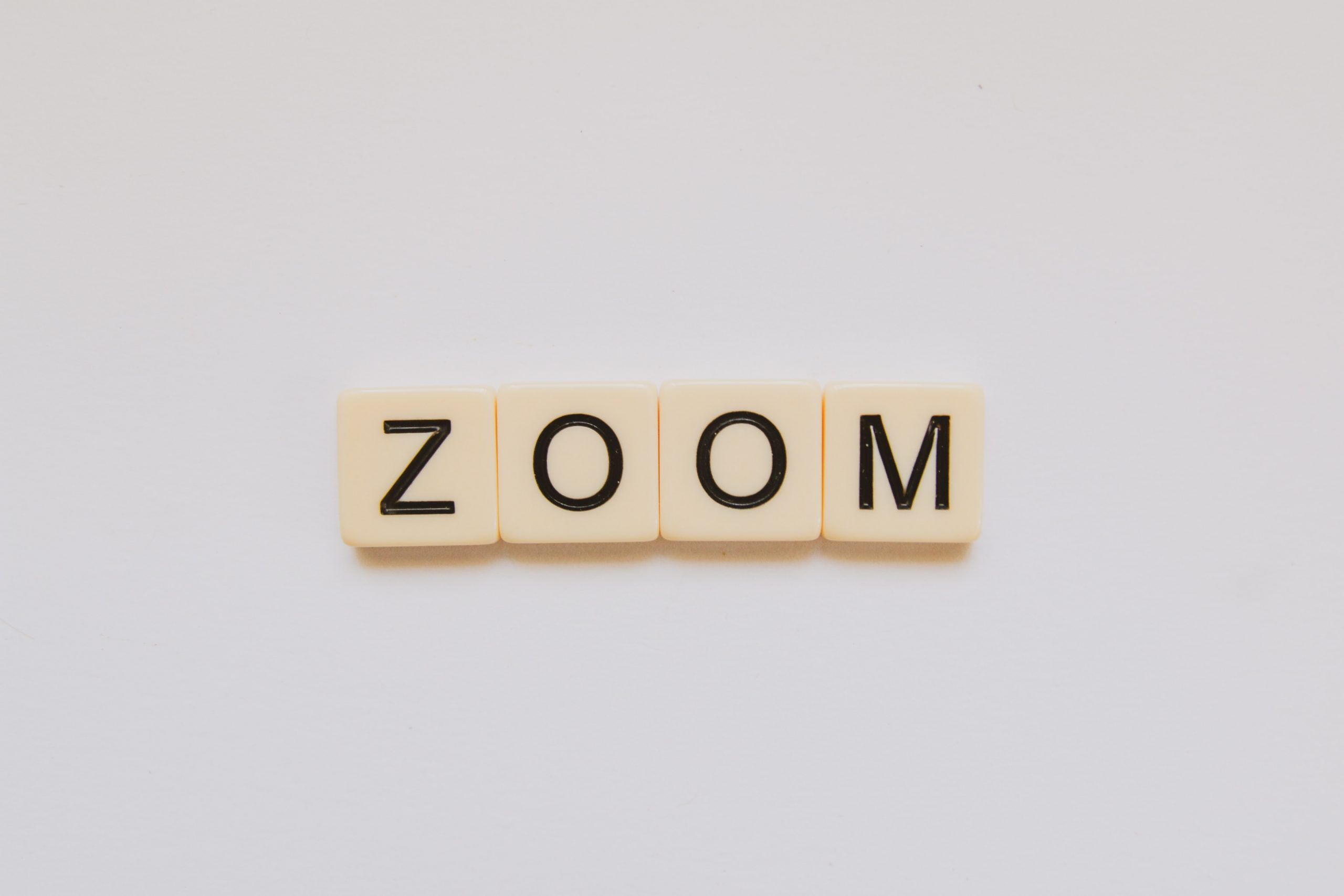 zoom with scrabble bits
